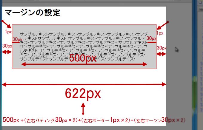 ボックスとwidthプロパティの関係