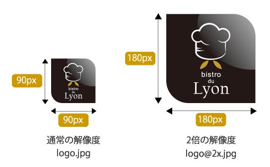 Retinaディスプレイ対応 ロゴを2倍の解像度で書き出す