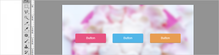 Photoshop基本 初心者 独学  WEB用ボタンのカラーバリエーションの作り方とレイヤースタイルの編集