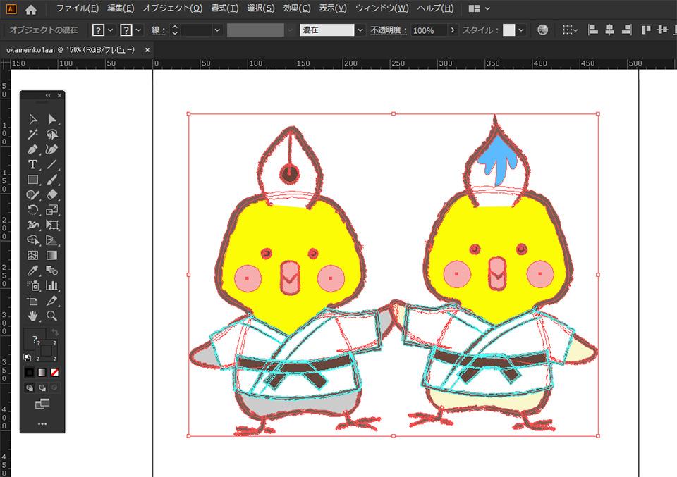 Illustrator sanaのイラレ道場 公式キャラクター